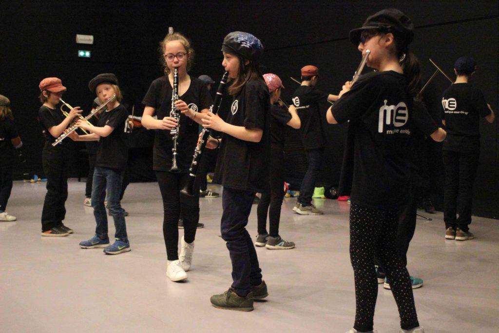La Fanfare Zéphyr de Musique Ensemble à l'oeuvre